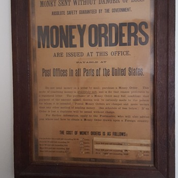 Post Office Money Order Sign