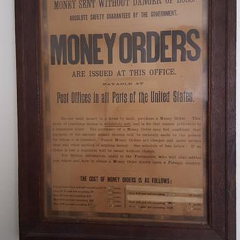 Post Office Money Order Sign
