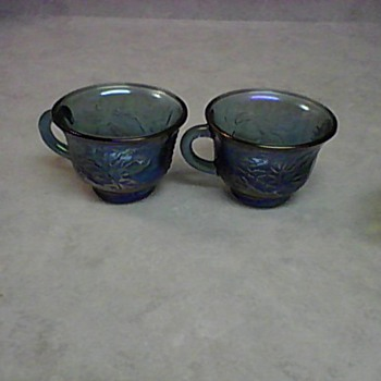 BLUE PUNCH CUPS - Glassware