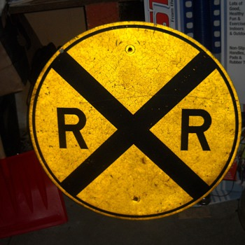 Old Railroad Crossing Sign - Railroadiana