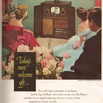1948 - DuMont &quot;Savoy&quot; Television Advertisement - Advertising