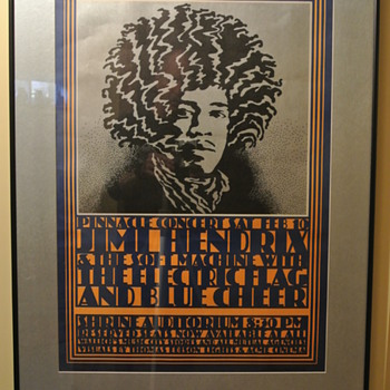 Jimi Hendrix – Shrine Auditorium 1968 Concert Poster Second Printing - Music