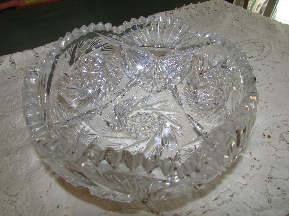 Vintage Cut Glass Bowl 106