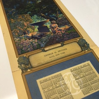 1927 Edison Mazda Light Calendar with art from Maxfield Parrish