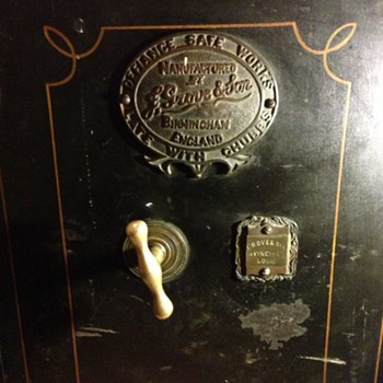 Old vintage antique Chubb safe