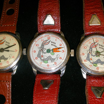 Three versions of 1951 Rexall Bugs Bunny Watches - Wristwatches