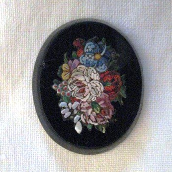 Fine Micro Mosaic Flower Plaque  - Fine Jewelry