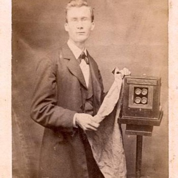 Photographers &amp; Their Cameras - 1870s CDV with 4-lens American wetplate