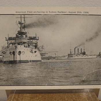 AMERICAN FLEET ANCHORING IN SYDNEY HARBOUR 1908 - Postcards
