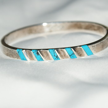 Taxco Mexico Sterling Bangle - Fine Jewelry