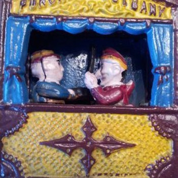Punch &amp; Judy Mechanical Bank - Coin Operated