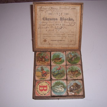 1877 LYMAN`S CHROMO BLOCKS - Toys