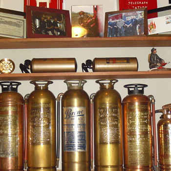 My Fathers collection, only half the room too! has collected since he started as a volunteer 39 years ago - Firefighting