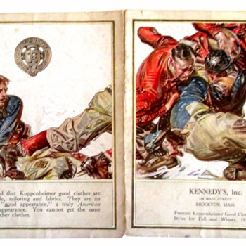 1920-21 FOOTBALL KUPPENHEIMER LEYENDECKER CATALOG.