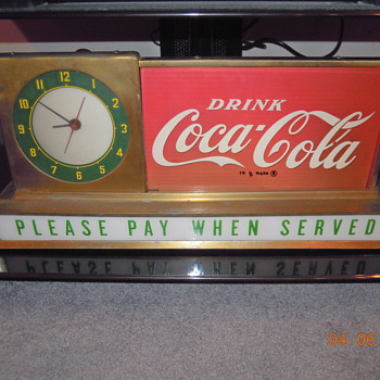 1950's  Coca-Cola Light-up Counter Sign by Price Bros. - Coca-Cola