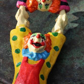 Painted Paper Mache Clown Acrobats - Visual Art