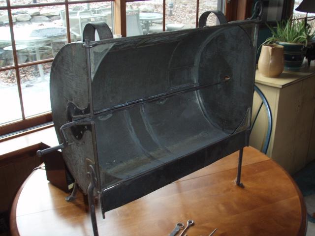 dutch oven inside wood stove