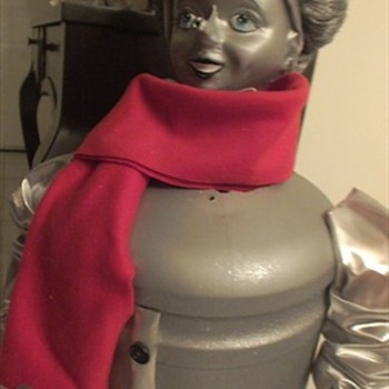 Animated Tin Man - mannequin doll - over 30 inches tall - Wizard of Oz