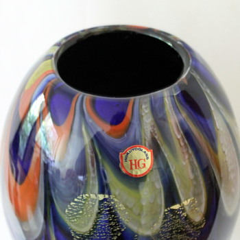 Hokuyo Glass vase 1960s - Art Glass