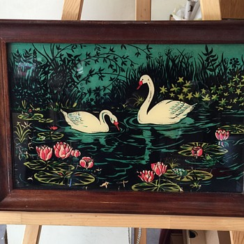 Appears to be a reverse Glass Painting vintage  - Visual Art
