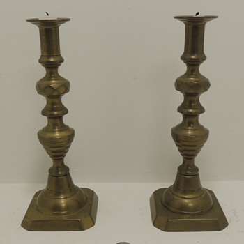Brass Candlesticks - Late 1800's