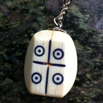 Mystery ivory necklace - game pieces? - Costume Jewelry