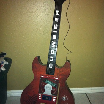 Budweiser Guitar Shaped CD Player/Radio - Breweriana