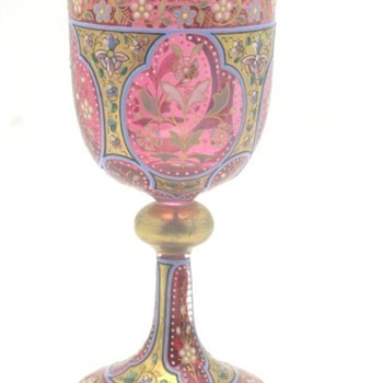 cranberry wine goblets - Art Glass