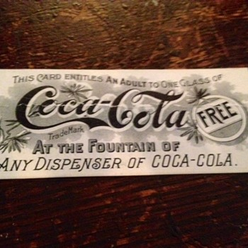 1896-1900 Coca Cola Coupon