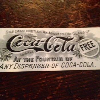 1896-1900 Coca Cola Coupon - Coca-Cola