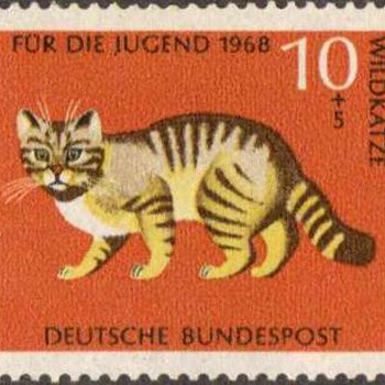 "1968 - W. Germany - ""Animals"" Postage Stamp Series - Stamps"