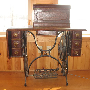 """Domestic"" Antique Treadle Sewing Machine - Sewing"