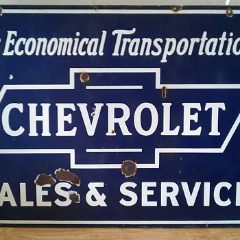 Chevrolet 1930's Porcelain Sign - Signs