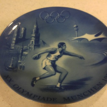 1972 Olympic plate - Advertising