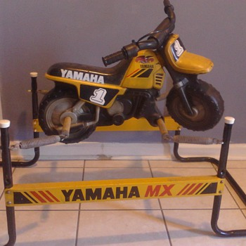 1980's Yamaha Flexible Flyer MX kids spring ride on rocking horse motorcycle