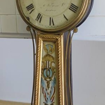 Antique Simon Willard Jr. Banjo Clock (1815-1830)