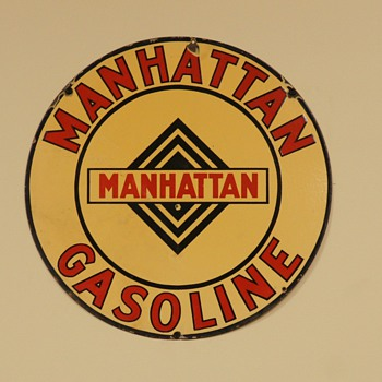 Manhattan Gasoline Sign - Signs