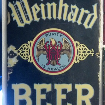 Henry Weinhard Pre-prohibition Porcelain sign - Advertising