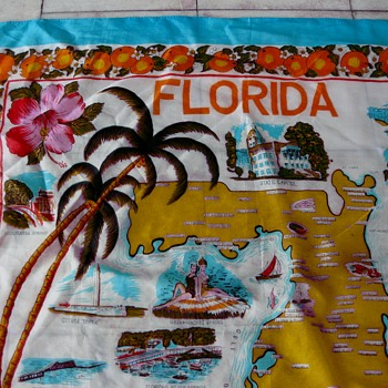 Oh the state I'm in! Florida souvenir scarf