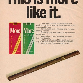 1978 - More Cigarettes Advertisement