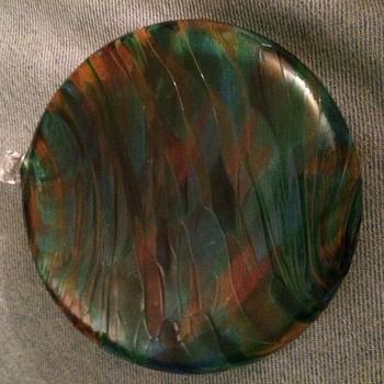 SEMI FLAT ORB/SUN DISK/SUN CATCHER-MURANO? SEGUSO? AGE? - Art Glass