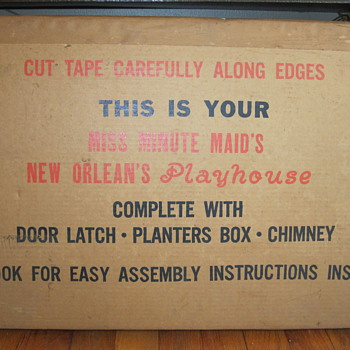 50's? never opened Miss Minute Maid's New Orleans Playhouse - Advertising