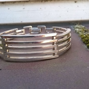 .835 Silver Bracelet, Flea Market Find $7.50