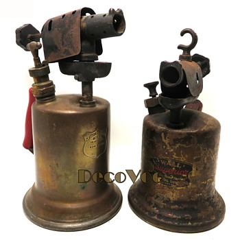 Brass Blow Torches 1930's Wall & Clayton & Lambert