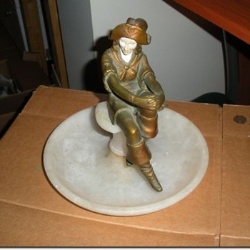 J. B. Hirsch Art Deco  Lady Pirate Pipe Rest - Art Deco