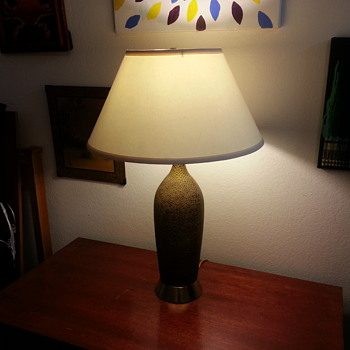 My Beautiful Faux Crazed-Leather Table Lamp