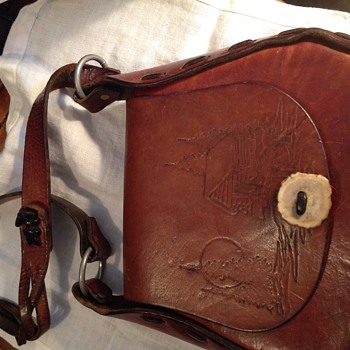 Leather satchel/purse