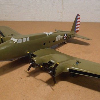 Boeing B-17D Pressed Steel Marx Conversion for Texas Museum - Toys