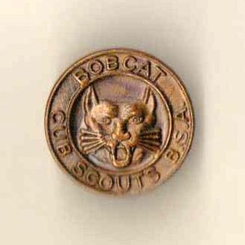 "1960's - Cub Scout ""Bobcat"" Pin - Medals Pins and Badges"