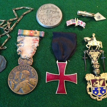 Military and Unknown Pins and Badges